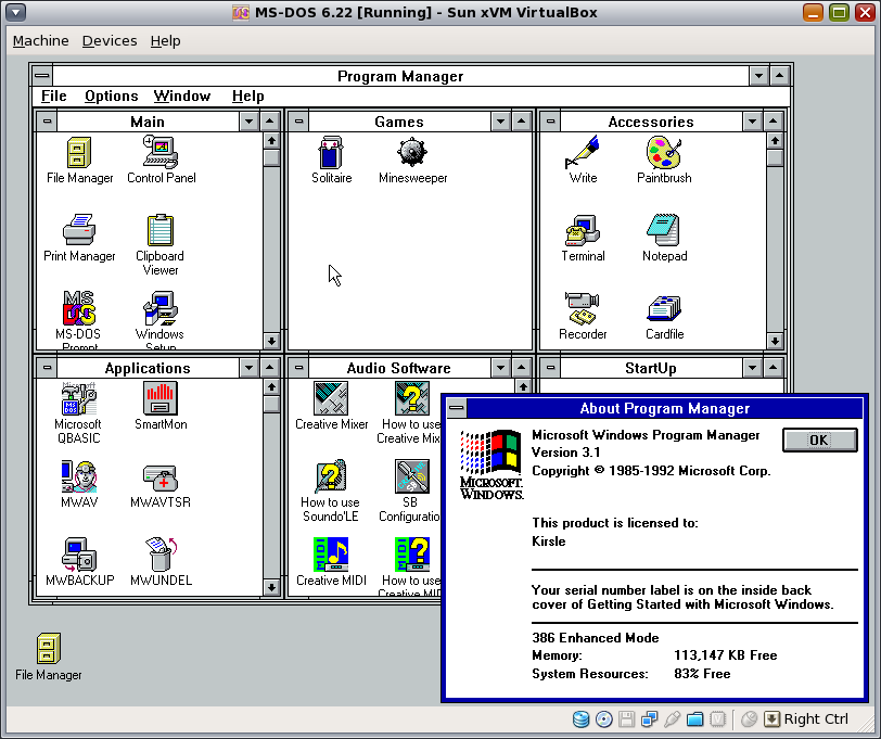 How to install dos 6. 22 under virtualbox: 6 steps.